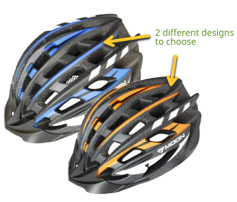 Moon Cycle Bike Helmet With LED Light colors