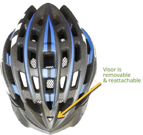 Moon Cycle Bike Helmet With LED Light visor