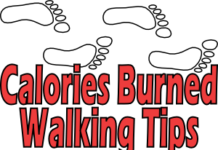 calories burned walking tips