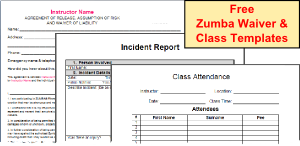 Free Zumba Instructor Class Templates