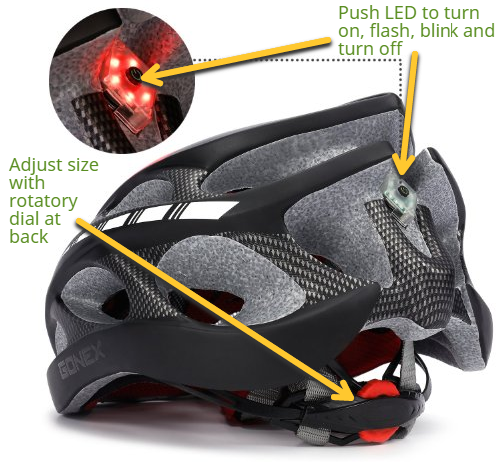 gonex led biking helmet light