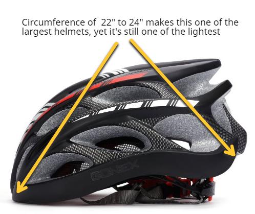 gonex led biking helmet side