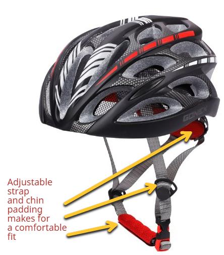 gonex led biking helmet strap