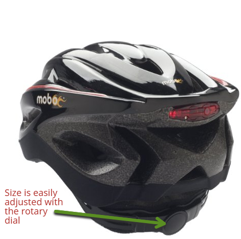 mobo 360 led bike helmet adjustable size