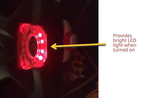 moon bike helmet with led light turned on