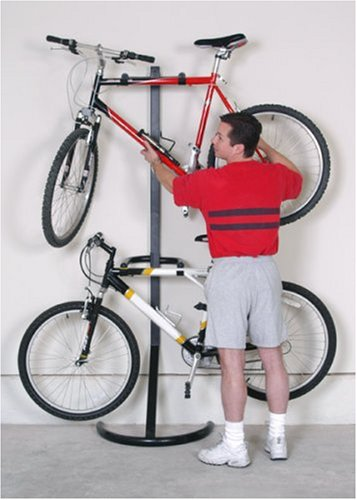 wall leaning bike rack