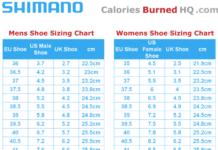 shimano shoe sizing chart for men and women