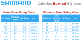 shimano shoe sizing chart for men and women