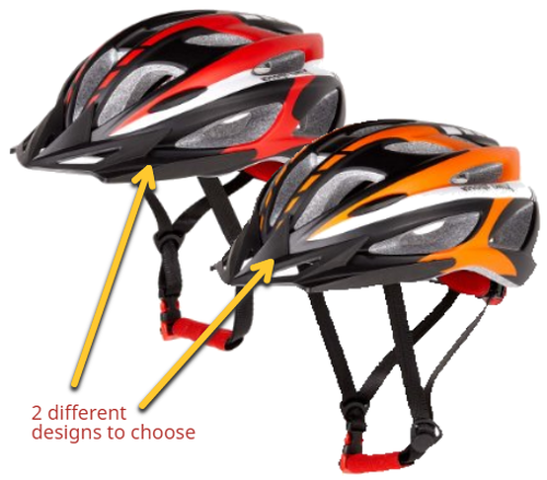xino bike helmet color designs
