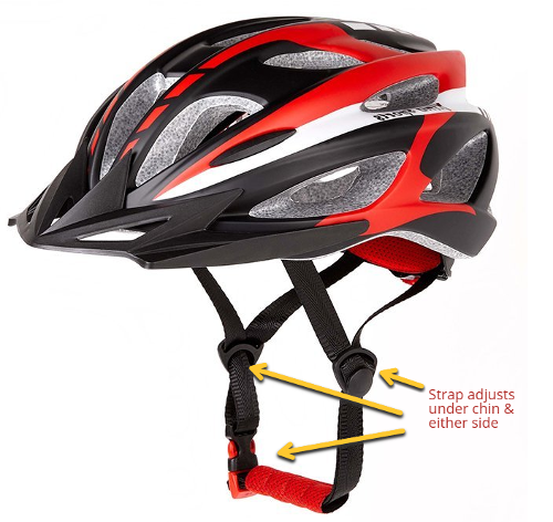 xino bike helmet with light straps